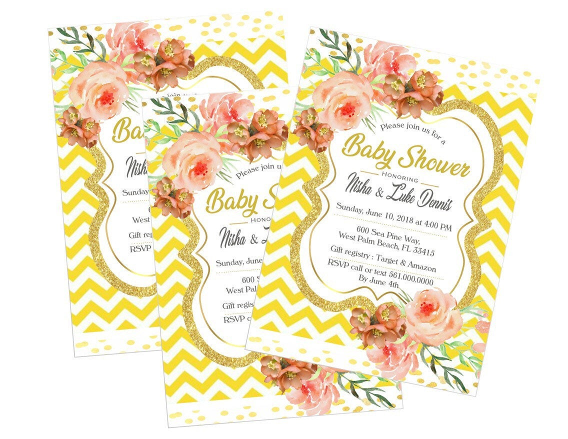 Baby Shower Invitations, You Are My Sunshine, Girl, Yellow, Pink ...