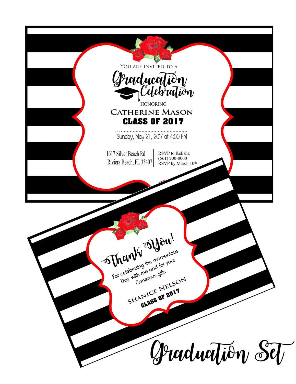 Graduation party invitation graduation thank you cards college graduation party invitation graduation thank you cards college graduation invitation thank you cards graduate thank you cards filmwisefo