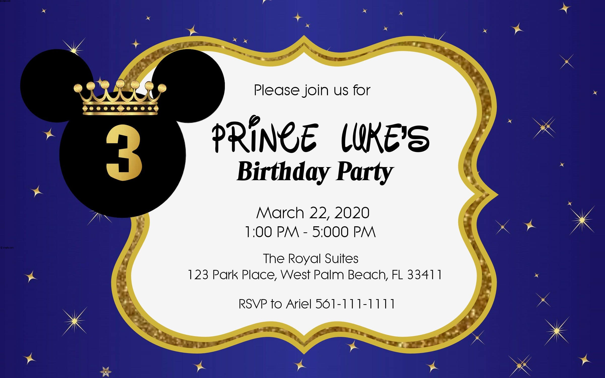 Mickey Mouse Birthday, Royal Prince, Mickey Mouse party, Mickey ...