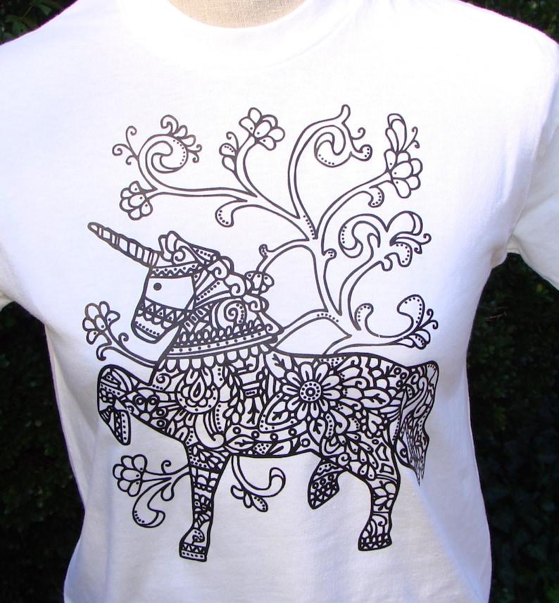 ef8acff89 Unicorn T-Shirt Kids or Adult Size T Shirt White Unisex | Etsy