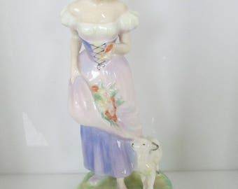 Royal Doulton Seasons SPRING Lady with Lamb Figurine 2085  1951