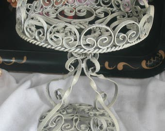 Wrought Iron Compote, Made In Spain, Shabby Chic, Cottage