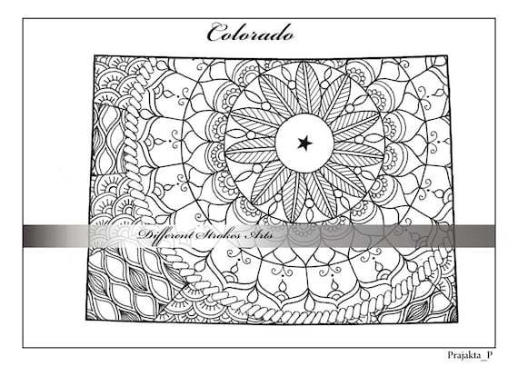 Coloring pages for adults Colorado map, USA map coloring, zentangle on list us map, colorado river us map, editable us map, blank us map, santa fe us map, grand canyon us map, painted desert us map, view us map,