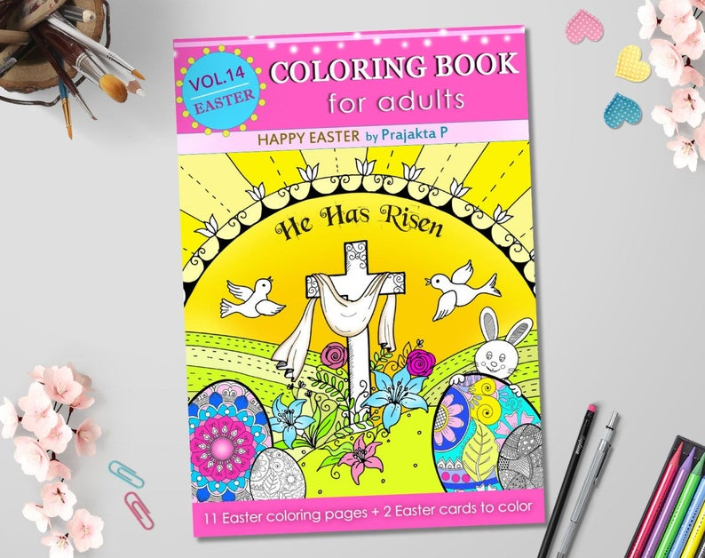 Adult coloring book - Happy Easter, printable Easter coloring, adult Easter  coloring book, mandala Easter eggs, Zentangle Easter eggs