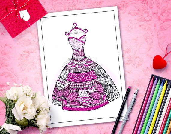 Zentangle Coloring Pages Valentines Coloring Page For Etsy