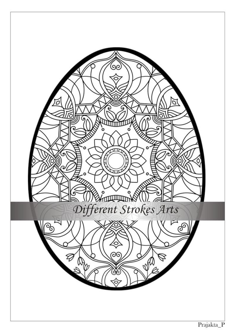 Osterei Mandala Malvorlagen Für Erwachsene Zentangle Osterei Ostern Diy Zentangle Coloring Seite Druckbare Ostergeschenke Reich Verzierten Eiern