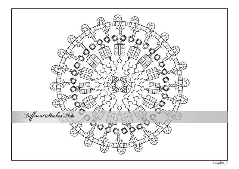 Página Para Colorear De Navidad Mandala Adulto Para Colorear Libro De Navidad Para Imprimir Para Imprimir Colorear Dibujos Para Colorear Adultos