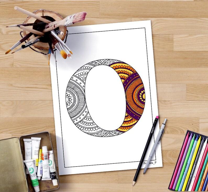 Zentangle Alphabet Malvorlagen Buchstaben O Henna Doodle Die Alphabete Erwachsene Färbung Erwachsenen Färbung Seite Buchstabe Oabc In Doodle