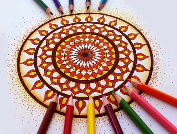 Mandala Adult Coloring Pages, Mandala Coloring Pages, Printable Coloring  Pages, Color Therapy, Anti Stress Fun Activity, Mandalas To Color