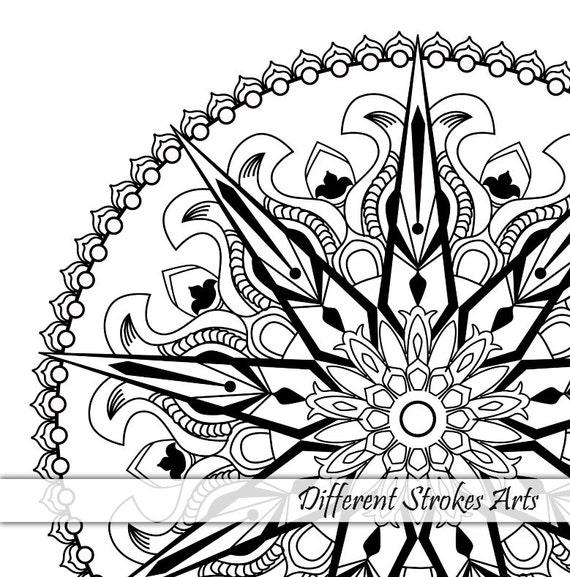 Páginas para colorear para imprimir para adultos Mandala para | Etsy