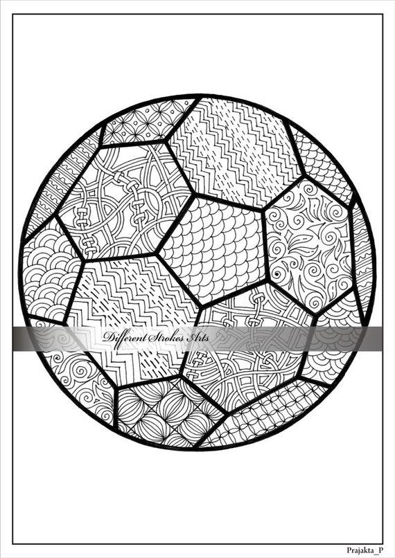 Erwachsenen Ausmalbilder Fußball Malvorlagen Für Erwachsene Etsy