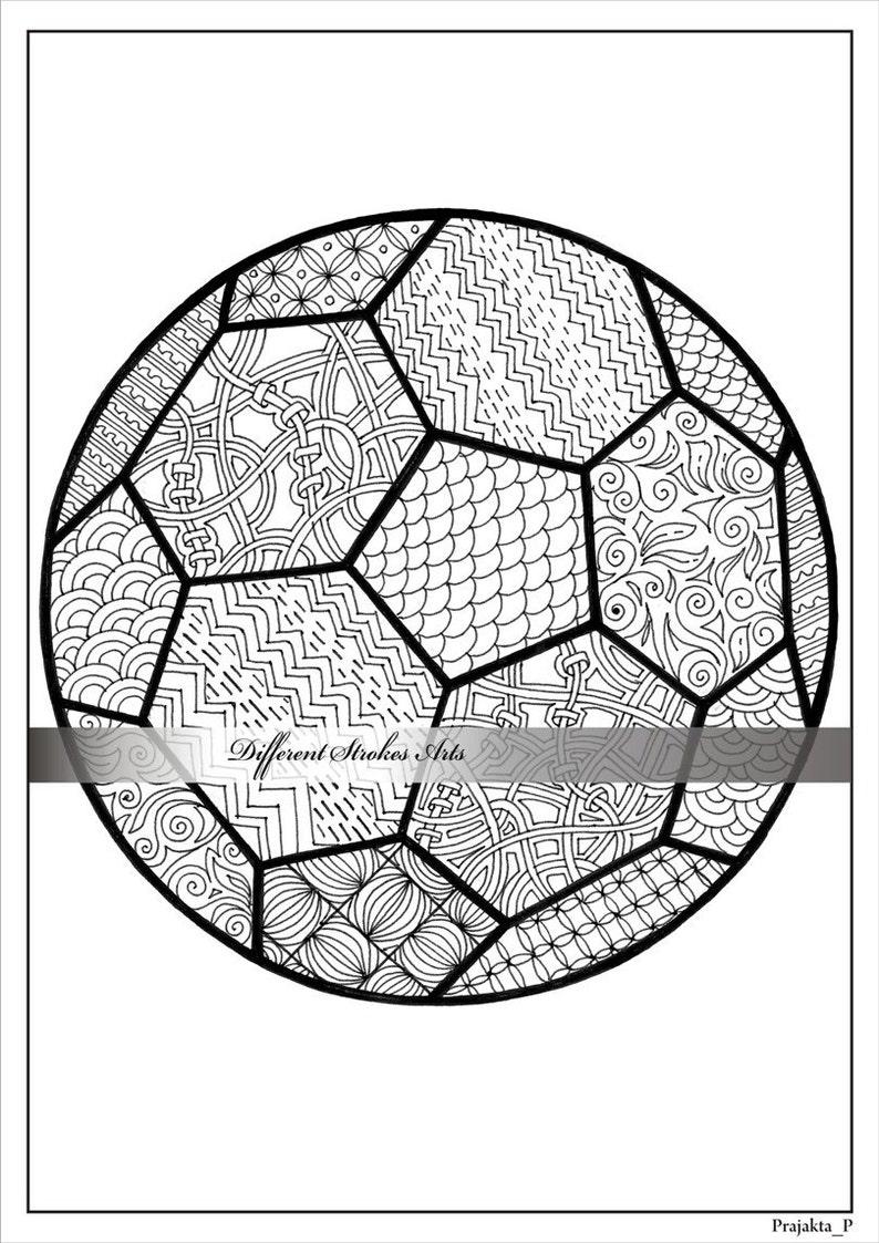 Erwachsenen Ausmalbilder Fußball Malvorlagen Für Erwachsene Soccer Ball Färbung Instant Fußball Geschenk Ausdrucke Sport Papa Sport