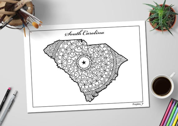 USA-Printables: State of South Carolina Coloring Pages - South ... | 403x570
