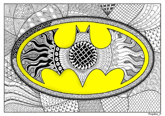 Adult Coloring Page Batman Coloring Page Superhero Adult Etsy