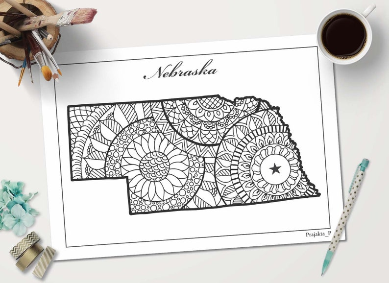 image relating to Patriotic Printable Coloring Pages referred to as Nebraska map coloring website page, patriotic printable artwork, nation map mandala artwork, doodle maps coloring web pages, coloring webpage for grownups, maps do-it-yourself