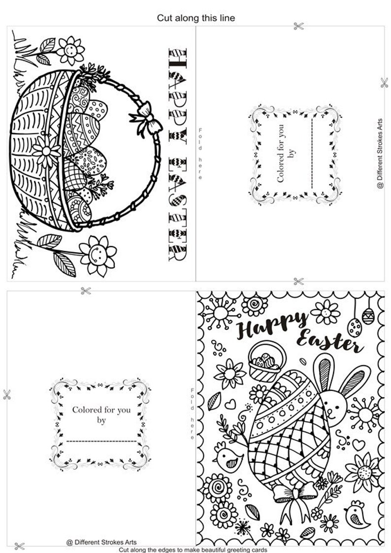 image about Printable Easter Cards to Color identified as Easter playing cards toward coloration, printable Easter coloring playing cards for grownups, spring colouring internet pages, do-it-yourself Easter crafts, Easter greetings