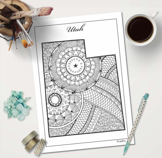 picture regarding Patriotic Printable Coloring Pages identified as Utah region map coloring webpage, patriotic printable artwork, nation map mandala artwork, doodle maps coloring web pages, coloring site for older people