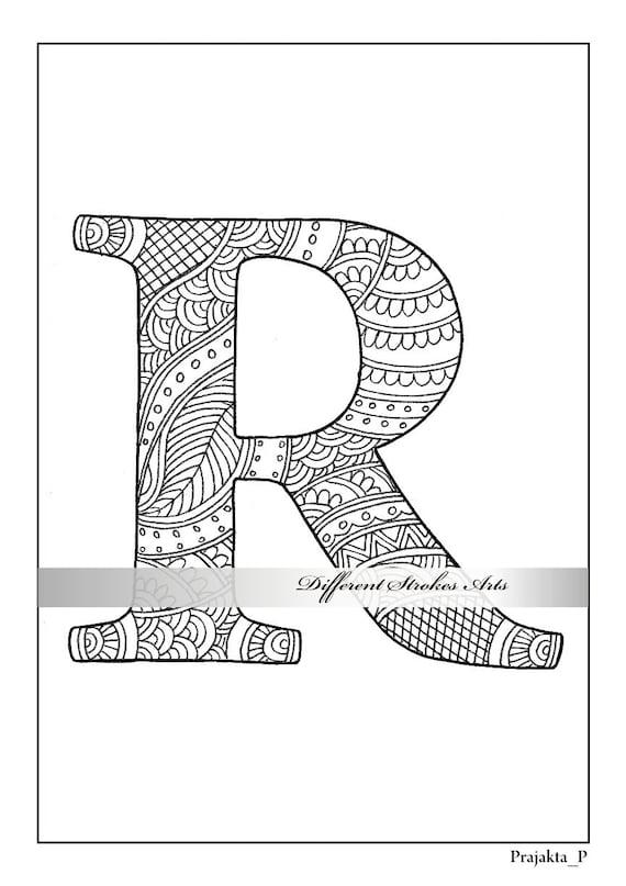 Página de letra R para colorear para imprimir colorear | Etsy