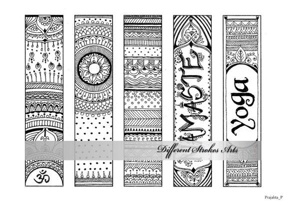 marcadores para imprimir para colorear marcadores de Om   Etsy