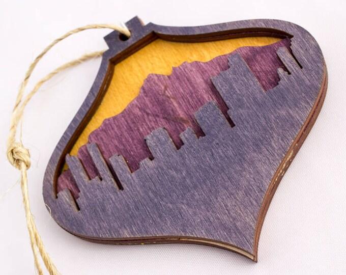 Denver Christmas Ornament - Colorado Christmas Ornament - Mountain Ornament - Rocky Mountain Christmas - Forest - Pine Tree Ornament