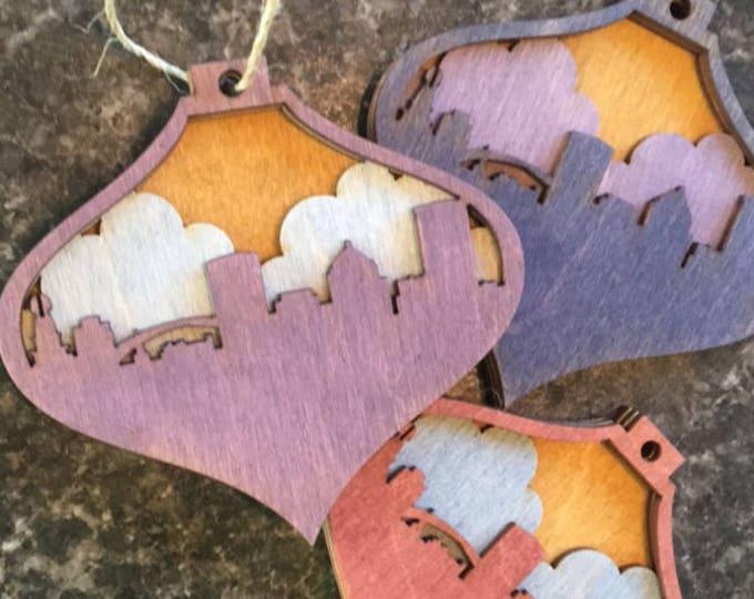 Custom Skyline Ornament - City Scape Ornament - Skyline Ornament - Custom Christmas Ornament