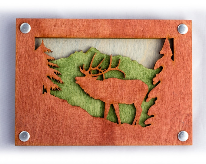 Elk Art - Rustic Wall Art - Mountain Wall Decor - Mountain Decor - Mountain Home Art - Gift for Him