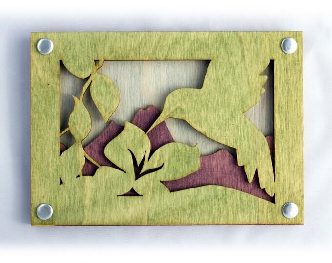 Hummingbird Wall Art - Rustic Wall Decor - Hummingbird - Cabin Decor - Gift for Mom