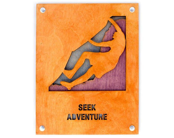 Rock Climber - Adventure Wall Decor - Climbing Scene - Adventure Decor - Mountain Home Art - Rock Climbing Gift - Adventure Gift