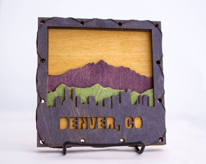 Colorado Home Decor - Denver Art - Denver Wall Hanging - Denver Decor - Colorado Decor - Denver Decorating Idea