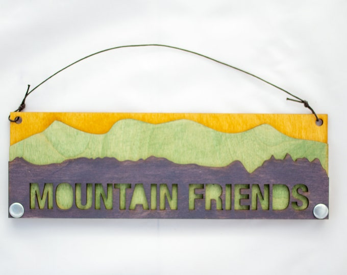 Mountain Friends - Adventure Gift - Rustic Gift for Friends - Housewarming Gift