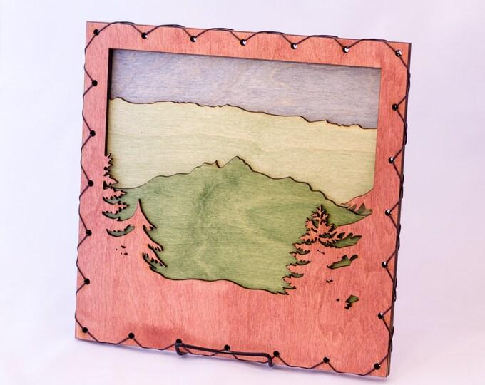 Mountain Scene - Lake Home - Rustic Wall Art - Mountain Wall Decor - Rocky Mountains - Cabin Decor - Mountain Home Art - Mountain Wall Art