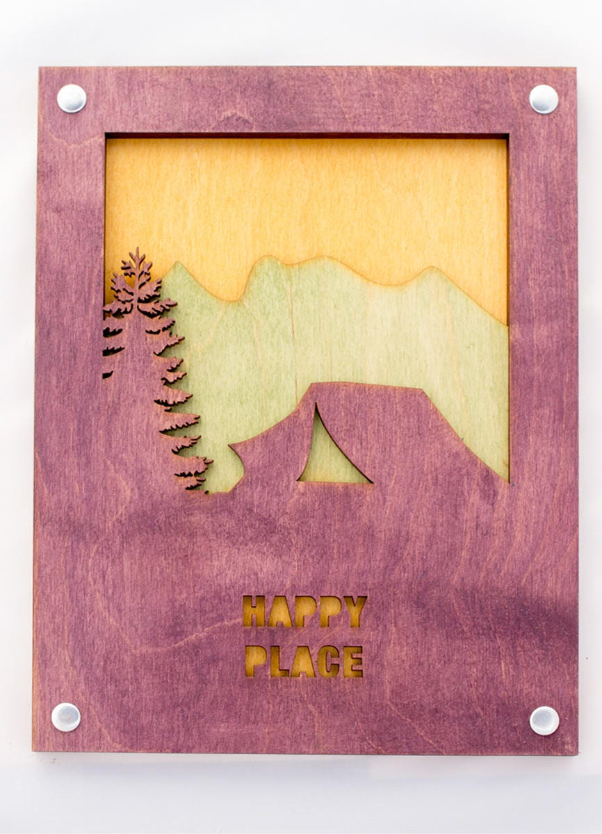 Camping Wall Art - Camp Decor - Tent Scene - Camping Gift - Mountain ...