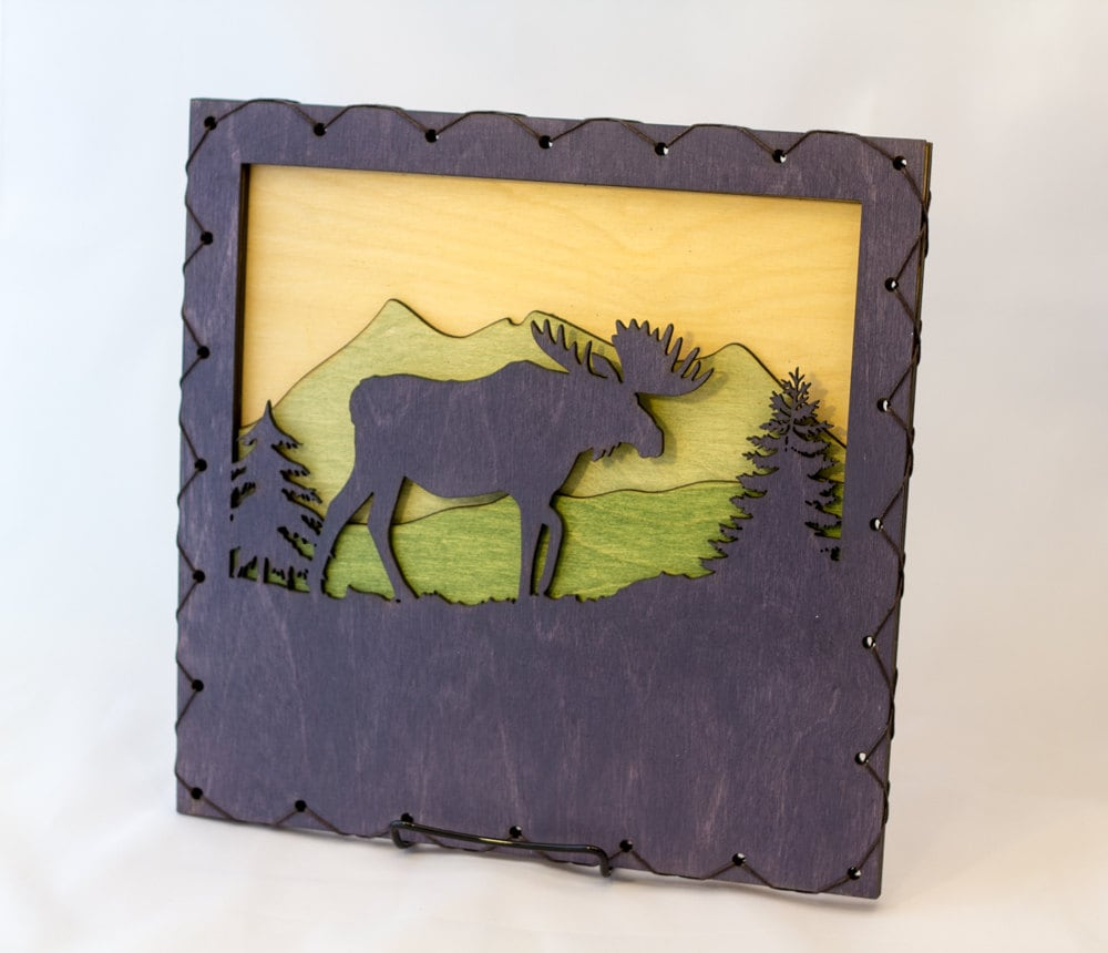 Moose Decor - Forest Wall Art - Nature Lover Gift - Outdoors Wall ...
