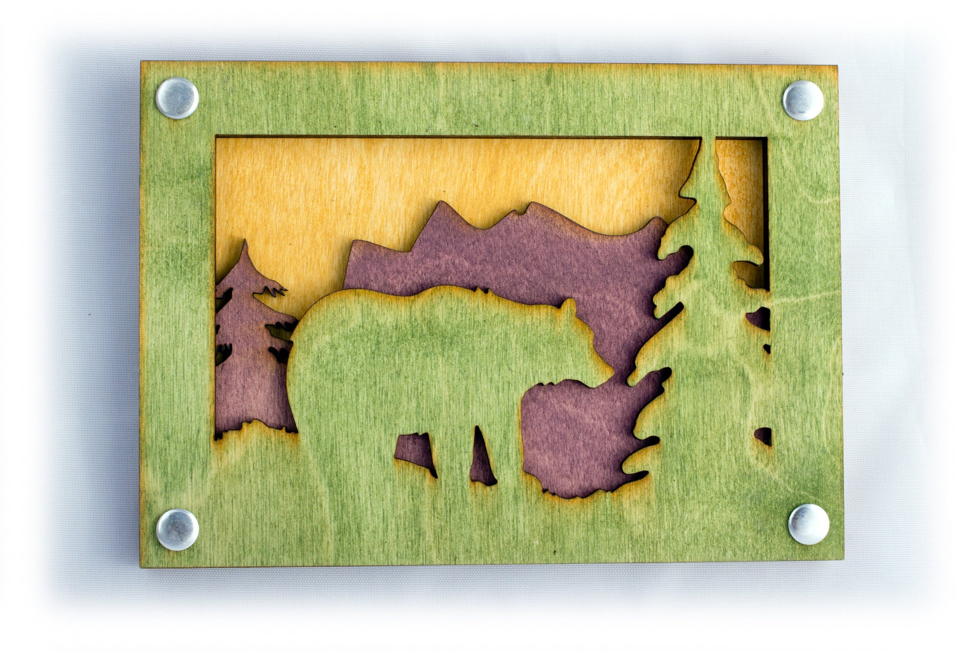 Bear Art - Rustic Wall Art - Mountain Wall Decor - Mountain Home Art ...