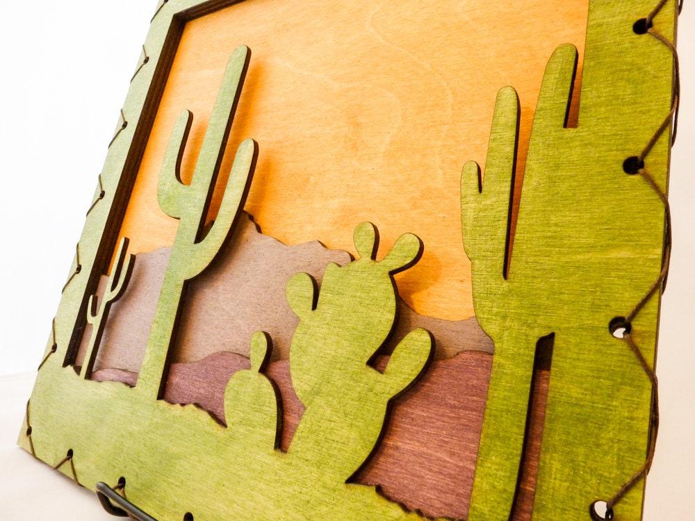 Southwest Art - Southwest Decor - Cactus Wall Hanging - Saguaro Wall ...