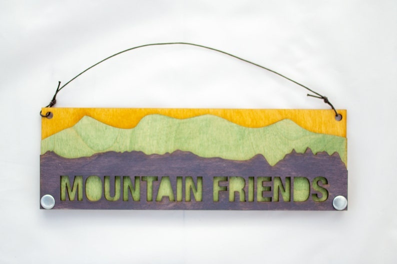 Mountain Text Sign: Mountain Friends image 0