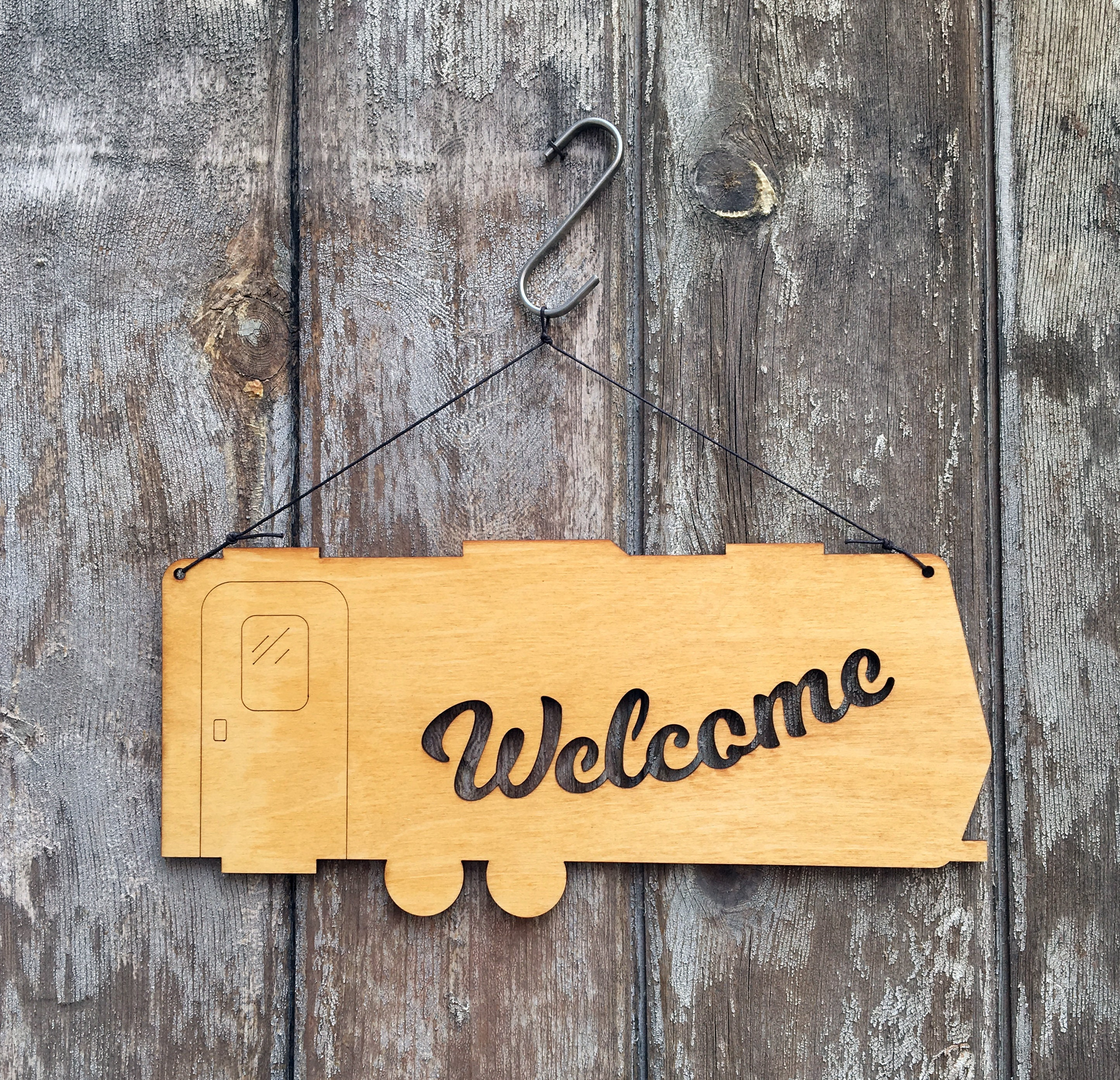 Camper Welcome Sign- Rustic Wall Art - Trailer Wall Art - Travel ...
