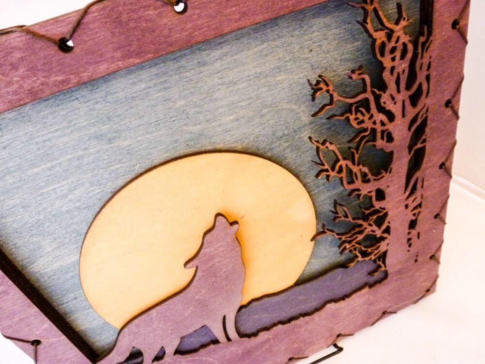 Wolf Wall Decor - Purple Wolf - Wolf Wall Art - Wolf Home Decor ...