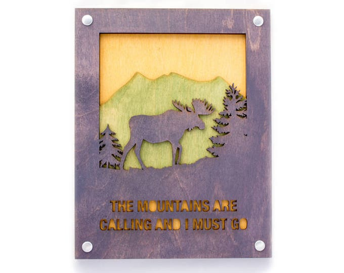 Moose Wood Wall Art with Rustic Style