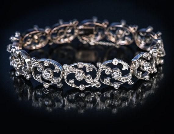Belle Epoque Antique French Diamond Silver Gold Op