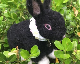 BIG SALE 49.00 WAS 75.00 Floppy Eared, Black, Baby, Bunny Rabbit Ready to Deliver Easter Egg Baskets