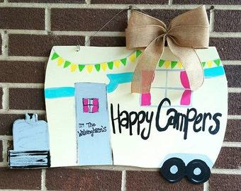 Happy Campers Door Hanger