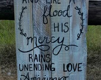 Amazing Grace Pallet Sign