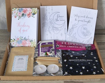 Relaxation gift box   Hug in a Box   Pamper Gift Box   Mindfulness gift   Gift for her   Isolation gift   Pick me up gift   Sleep gift box