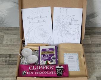 Mini Beauty Sleep Gift Box   Pamper Gift Box   Mindfulness gift   Gift for her   Paper flower gift   Isolation gift
