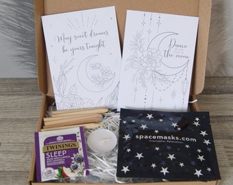 Mini Self Care Gift Box   Pamper Gift Box   Mindfulness gift   Gift for her   Paper flower gift   Isolation gift