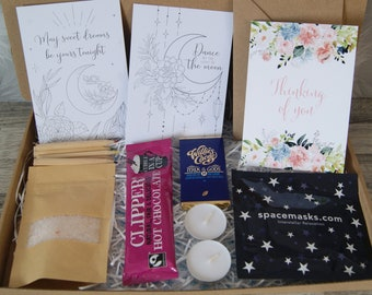 Rest and Refresh Gift Box   Pamper Gift Box   Mindfulness gift   Gift for her   Paper flower gift   Isolation gift