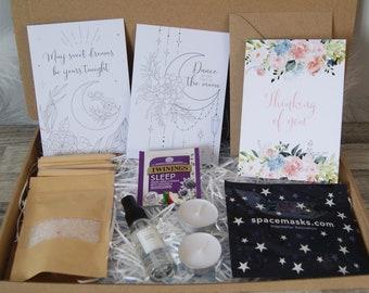 Beauty Sleep gift Box   Pamper Gift Box   Mindfulness gift   Gift for her   Paper flower gift   Isolation gift