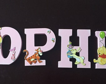 Winnie the Pooh Nursery Wooden Name Letter