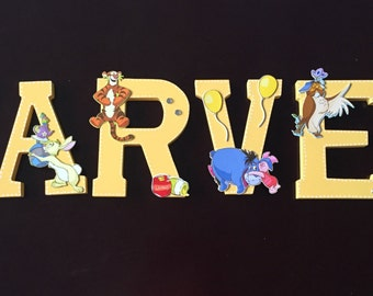 Winnie Pooh Bear Nursery Wooden Letter
